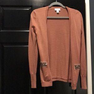Beautiful mauve colored cardigan size S